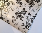 Contact Paper, Black and White Floral Shelf Liner 18 inches x 1.5 yards, Black and White Contact Paper, Floral Contact Paper