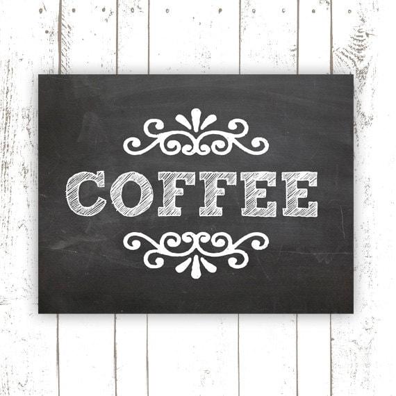 Coffee Prints Kitchen: Kitchen Art Print Coffee Art Print On By MooseberryPaperCo