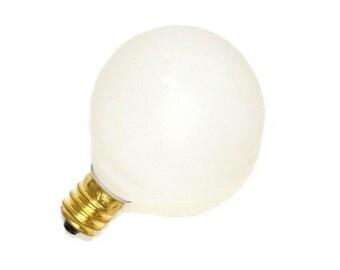 "15w 2"" White Globe Light Bulbs"