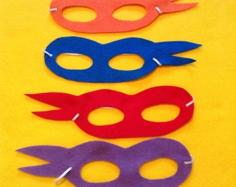 Ninja / Ninja Turtle Masks set of 8 masks.