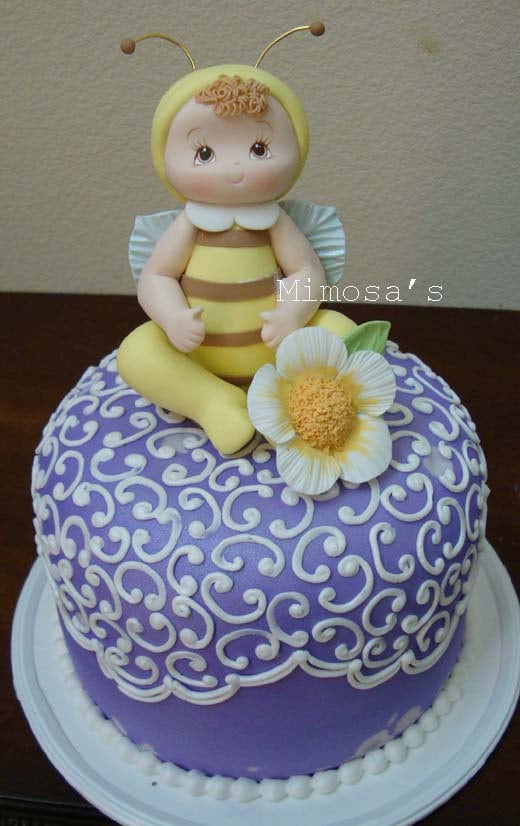 bumble bee baby shower cake topper baby by mimosasdesigns