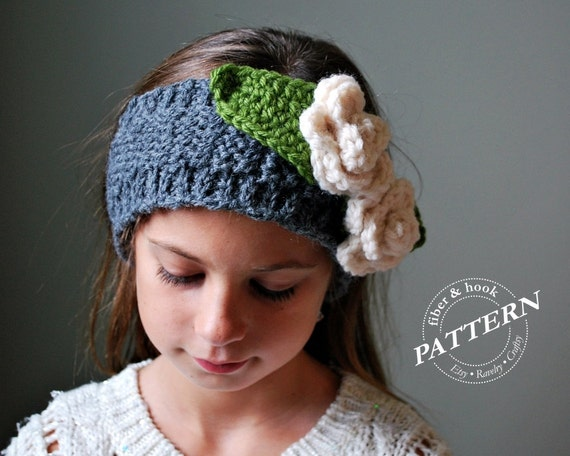 Free Crochet Ribbed Headband Patterns : CROCHET PATTERN Ribbed-Edge Headband Pattern Neckwarmer
