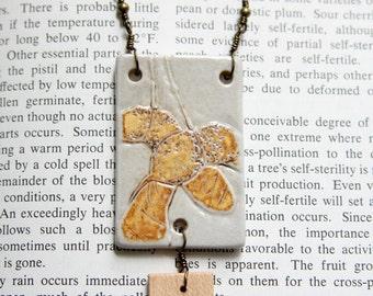 Necklace - Ceramic and Wood Jewelry - Maple Samara