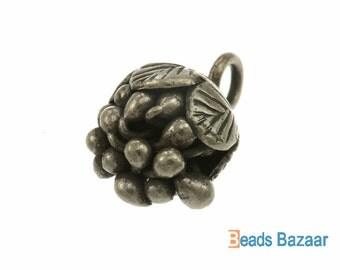 Karen Hill Tribe silver Bazel Flower Charm, 15 mm