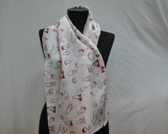 Vintage SILK long scarf ...