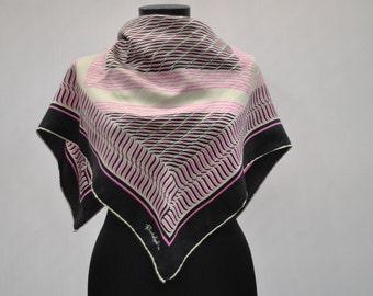 Vintage RUDOLFO silk scarf hand rolled ....