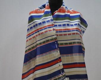 Vintage LONG SILK scarf
