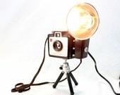 Reading Lamp - Task Lamp  - Kodak Brownie Holiday Flash Camera