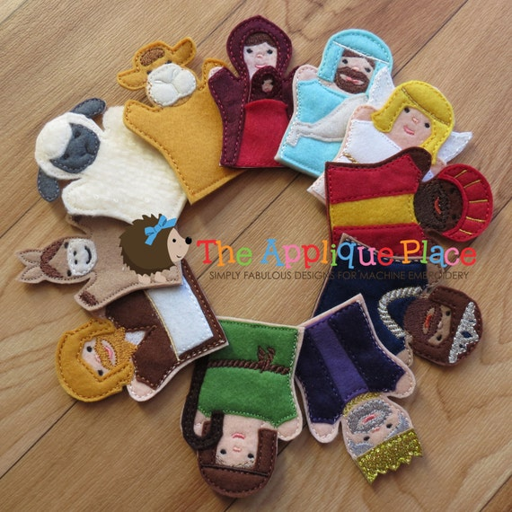 machine embroidery finger puppets