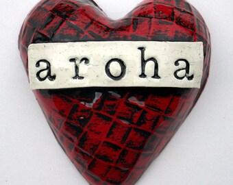 Rich red aroha Heart