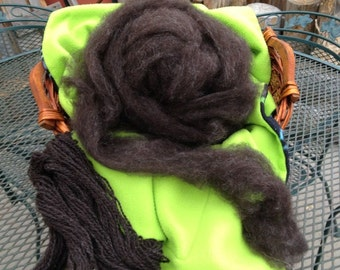 Roving - Black Border Leicester wool for Spinning or Felting