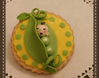 Baby shower 3D cookies baby Pea Pod