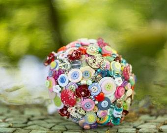 button bouquets Alice in wonderland inspired bouquet
