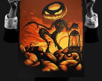 The Pumpkin King 18x24 Silk Screen Print