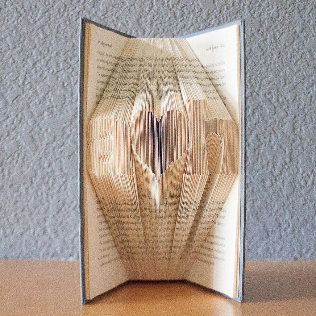 Wedding Gifts For Art Lovers : Wedding Gift-Personalized Gift-Folded Book Art- Book Lover-Home Decor ...
