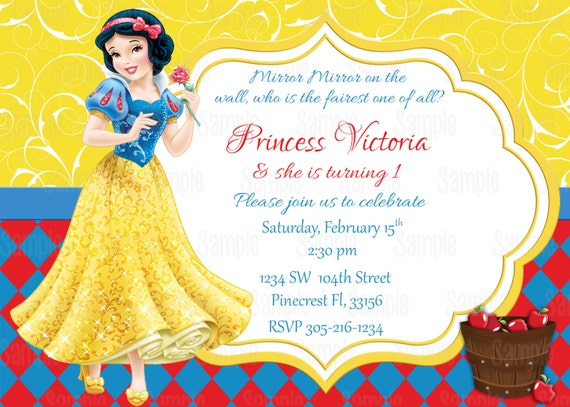 Striking image throughout snow white invitations printable