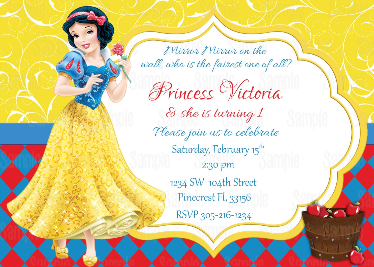 Snow White Printable Birthday Party by PartyInnovations09 ...