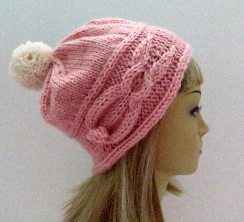 Knit Bunny Hat Pattern : PDF 110 Knitting Pattern Bunny Rabbit Slouch Hat Beanie