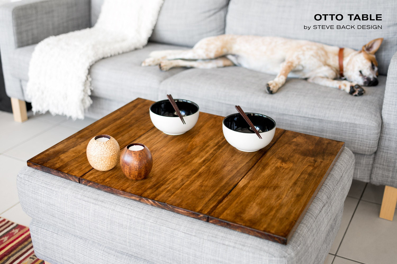 otto ottoman table top by stevebackdesign on etsy. Black Bedroom Furniture Sets. Home Design Ideas