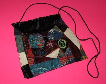 "8"" x 9"" Handmade Crazy Quilt Purse/Shoulder Bag"