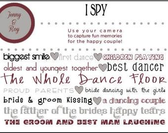 Wedding I Spy Game