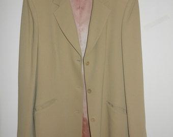 Wool Coat - Three Quarter Length - Tan Coat