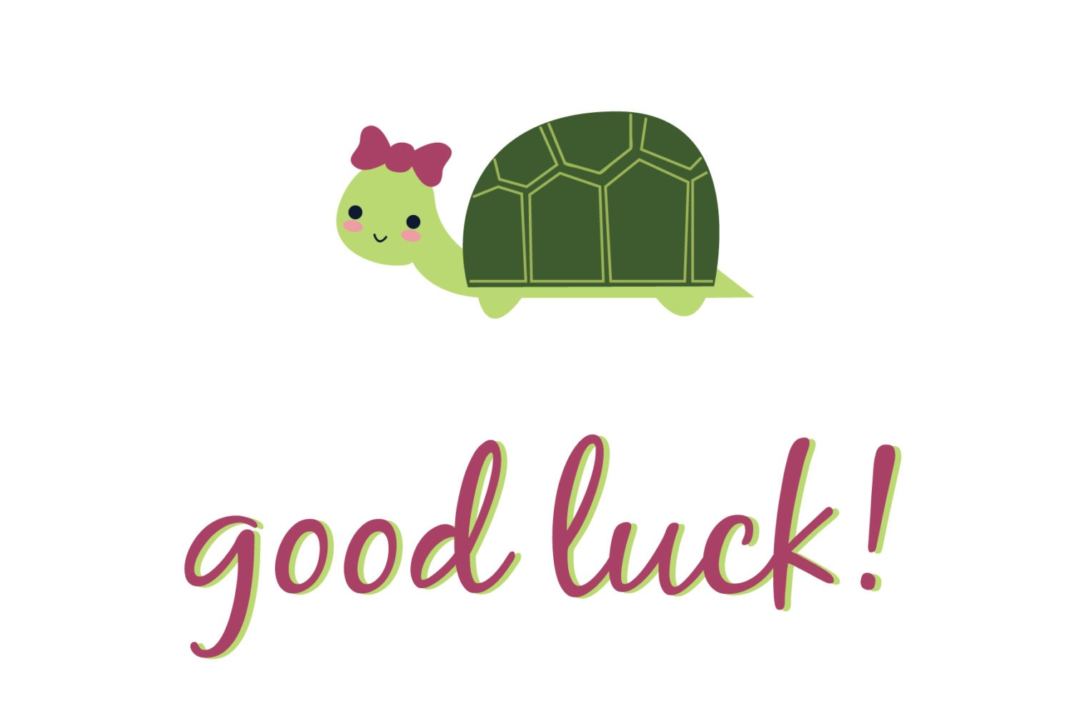 This is a graphic of Universal Printable Good Luck Cards
