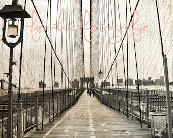 Brooklyn Bridge ,New York City Photo,NYC,City,Home Decor,City Photography, Wall Art Print 5 x 7, 8 x 10, 8 x 12.
