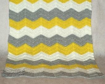 crochet blanket zigzag