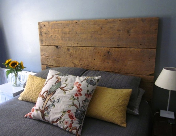 Lit King Bois De Grange : Reclaimed Barn Wood Headboard