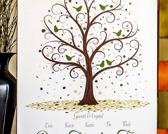 Family Tree - 16x20 - Personalized Family Tree Print