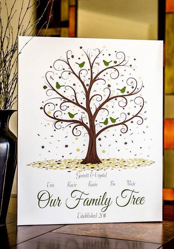 family tree print 11x14 personalized family tree family