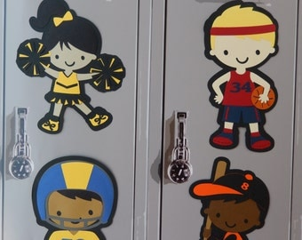 cheerleading locker decorations. Locker Decorations Personalized to your Features and Team Colors Cheerleader Decoration Personalize own