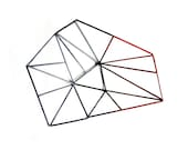 Geometric bowl minimal home decor modern black red houseware modern home design - popRenaissance