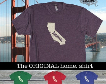 California Home. shirt- Men's/Unisex red royal purple green