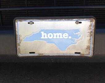 North Carolina Home Rustic Metal Embossed License Plate