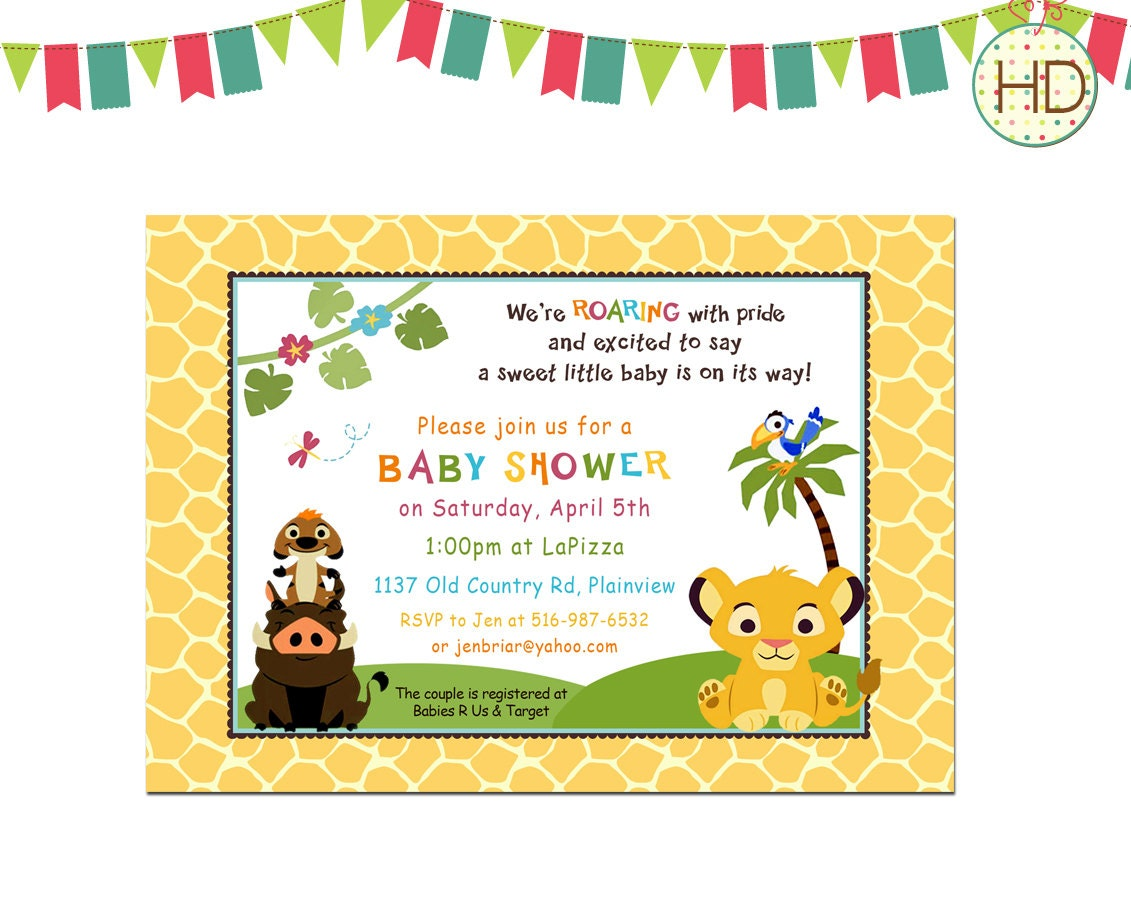 baby simba shower invitation baby shower by hdinvitations on etsy