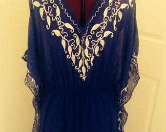 Vintage Chiffon Caftan Dress Loungewear