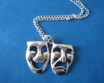 Comedy Tragedy Necklace Actor Theatre Stage Manager Gift