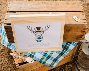Camping Themed Welcome Sign / Camping / Camp Party