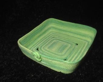 Basket - Square Green Variegated