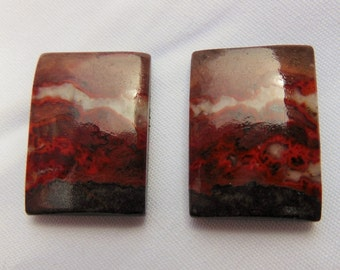 Cabochon Jasper natural SANCY (16 X 23 X 4.5 mm)
