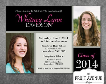 Graduation Party Invitation with Photos - Printable