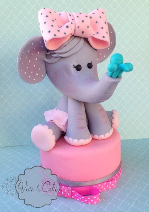 Images Of Elephant Cake : Baby Elephant cake topper