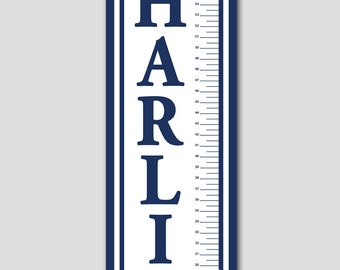 Personalized Nautical Growth Chart-Premium Poster Paper, Growth Charts for Boys, Nursery and Children Decor, Sailboat