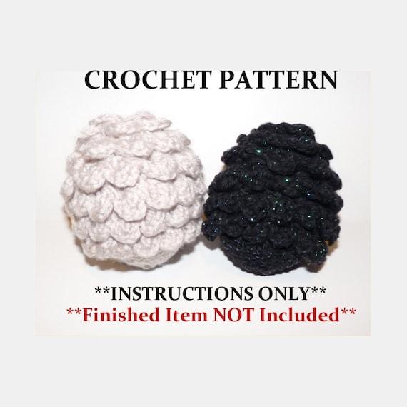 Crochet Dragon Egg Pattern Free : Dragon Egg Crochet PATTERN ONLY
