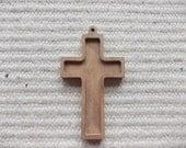 1 pc unfinished  wooden Christian cross pendant base,jewel base,wooden jewel supply, christian wooden setting, christ, art supply