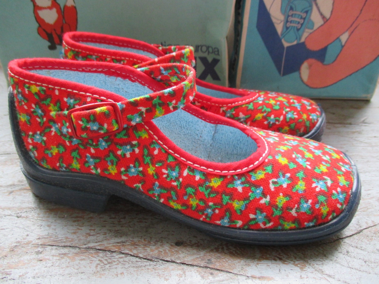 vintage 60 70 s canvas shoes by