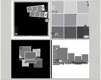 Sample Pack 33 - 12x12 Digital Scrapbooking Templates