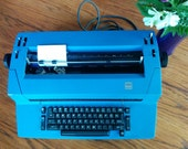 IBM Selectric II Typewriter Correcting - Blue Typewriter - 1970s Electric Typewriter